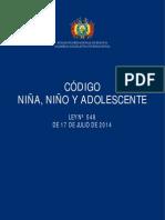 Código NIÑO, NIÑA Y ADOLESCENTE