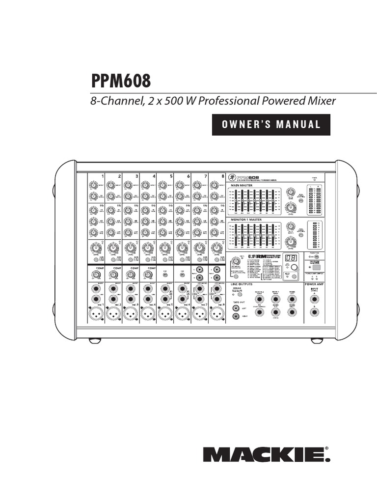 Mackie PPM608 PA Manual | Equalization (Audio) | Microphone