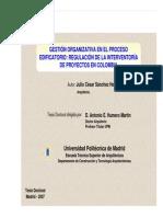 Gestion Orgnizativa en el Proceso Edificatorio