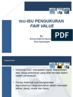 Isu-Isu Pengukuran Fair Value