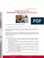 Accidents-travail-note Legislative - 0214 0