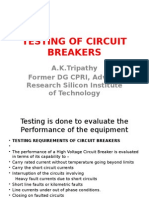 Testing of Breakers