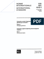 IEC 61312-1 Protection Against Lightning Electromagnetic Impulse