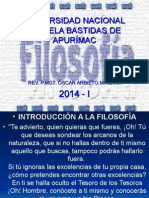 INTRODUCCION A LA FILOSOFIA.UNAMBA. ABRIL 2015. I..ppt