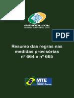 Cartilha Regras MP 664