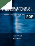 Human Resources - Misbehavior in Organizations - Y Vardi & E Weitz - 2004