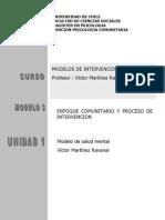 Modelo Salud Mental Comunitario Victor Martinez Ravanal