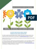 Errores en Social Media Agropecuario