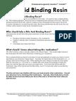 Bile Acid Binding Resin