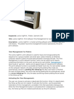 VigiPrint  Print Software Time Management for Garment CAD Plotter