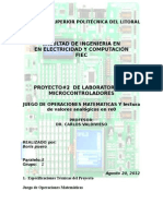 Proyecto manejo microcontroladores