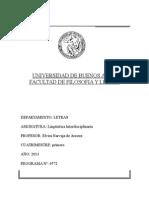 2013 1c - Lingúística Interdisciplinaria - Arnoux