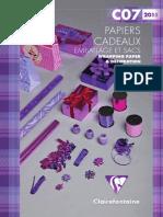 253281673 Clairefontaine c07 Papiers Cadeaux