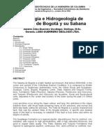 Geologia Hidrogeologia Sabana Bogota