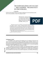 La Reconstrucción Dialógica en Un Caso de Duelo- Mecanismos Pragmático- Retóricos en Psicoterapia (1)