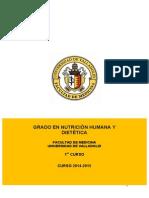 Nutricion Humana y Dietetica - Guia 1 2014-2015