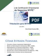 25-07 Tributacion Para Mypes IyII-Cesar Estrada