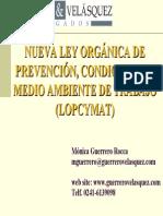 Nueva LOPCYMAT Resumen