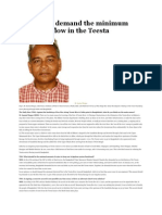 We Should Demand the Minimum Historical Flow in the Teesta