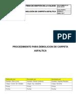 Ir-pr-civ-05, Rev 0. Demolicion de Carpeta Asfaltica...