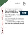 150529 NP- Instalación Carteles Informativos en Las Islas …