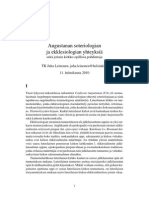 Augustanan soteriologian ja ekklesiologian yhteyksiä sekä joitain kirkko-opillisia pohdintoja