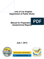 Manual for the Preparation of Geotechnical Reports_City of Los Angeless