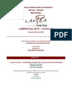 LAMPEA-Doc 2015 – numéro 16 / Vendredi 29 mai 2015