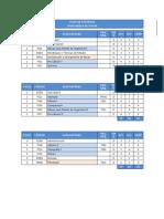 Plan de Estudios Ingeniería de Minas