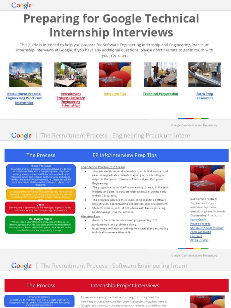 Preparing-for-Google-Technical-Internship-Interviews pdf | Google
