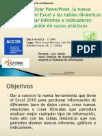 Conferencia PowerPivot TDS Excel LLEIDA Lmuñiz