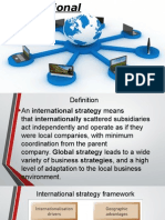 presentation on International Strategy