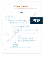 Client Server - Java
