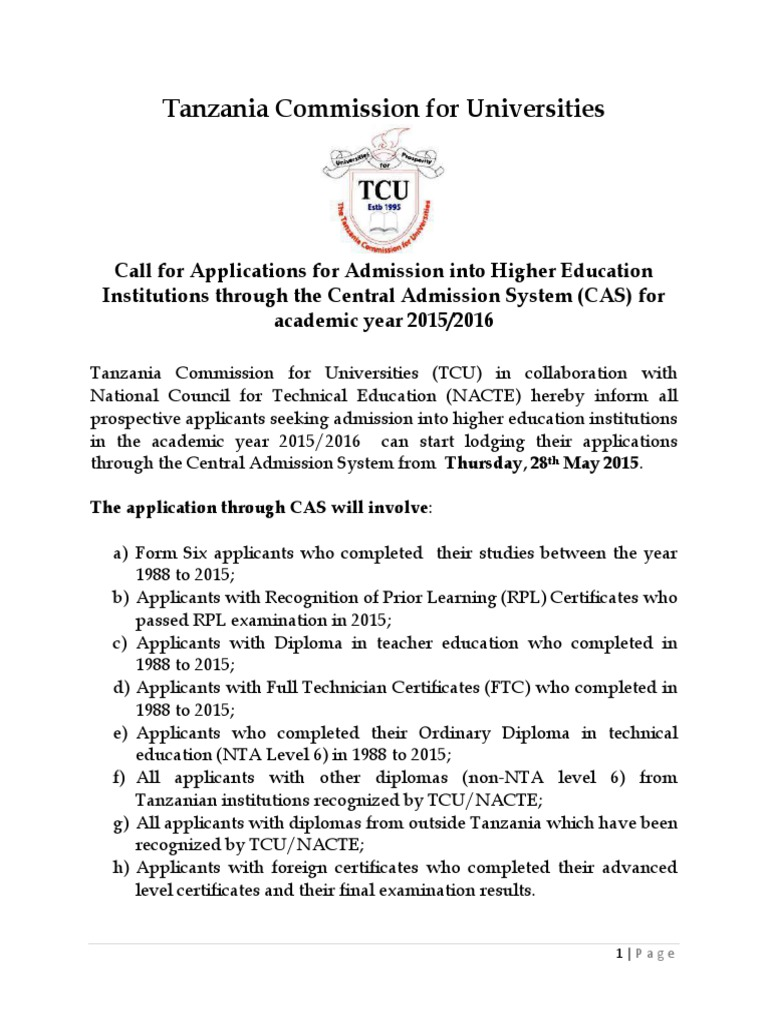 call for application form 6 2015 diploma gce advanced level rh es scribd com 2014 2015 Academic Calendar 2014 2015 Blood Moon Eclipse