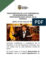 Correa 2012-05-21 ConferenciaInteramericanaResponsabilidadSocial