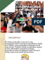 Urbanisasi Dan Migrasi Desa