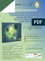 """Seminario Internacional """" Energias Renovables y su Contribución a la Disminución de los Efectos del Cambio Climático"""