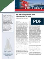 Why an EU-Turkey Customs Union Upgrade is Good for Turkey