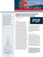 Reading the 2015 Turkish Parliamentary Elections