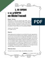 o Desejo, Os Corpos e Os Prazeres Em Foucault
