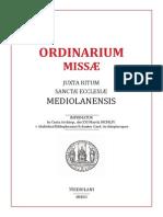 Messale Ambrisiano Del Cardinal Schuster