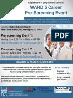 Ward 5 Prescreening Event