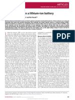 Memory Effect in a Lithium Ion Battery