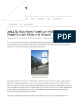 2014 Buses From Frankfurt-Hahn to Frankfurt City and Airport
