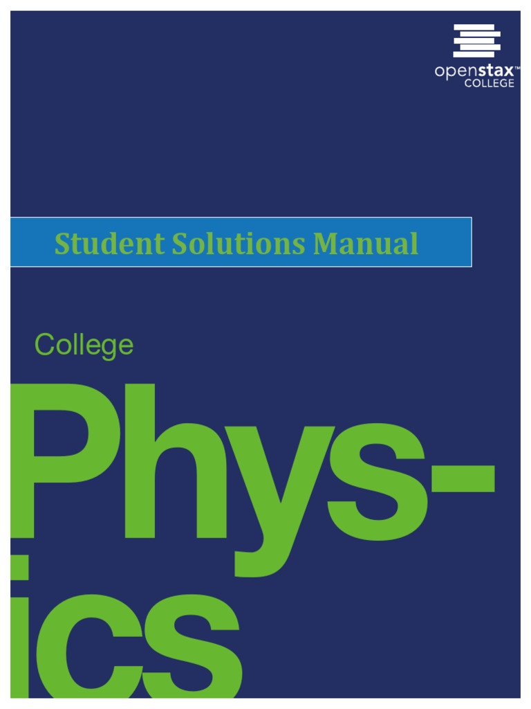OpenStax Physics-Student Solution Manual | Electromagnetic