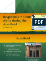 Inequalitities in South Africa During the Apartheid