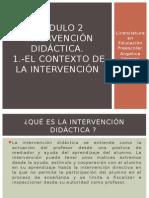 INTERVENCIÓN DIDÁCTICA-El Contexto de La Intervención