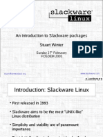 Slackware Package Presentation