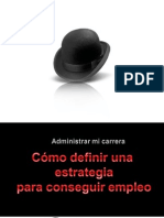 Como definir una estrategia para conseguir empleo Jul 2011.ppt