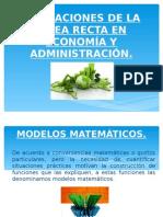 Aplicaciones de La Recta en Economía y Administración Geo II Año 15